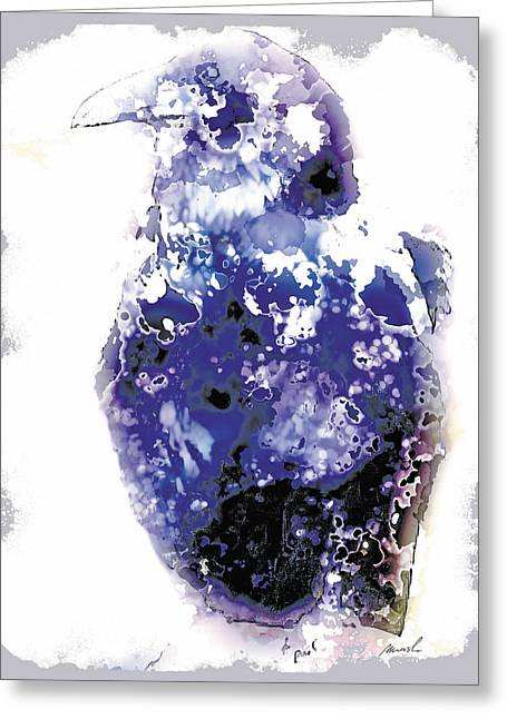 Raven Greeting Card by The Art of Marsha Charlebois