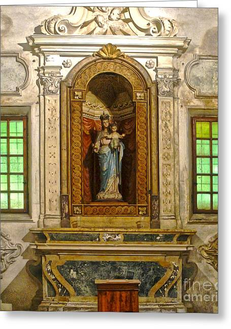 Ravenna Italy - Sant Apollinare Nuovo - Madonna And Child Greeting Card