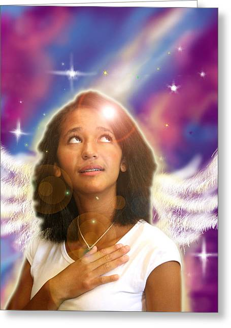 Ravert. Angelic Greeting Card