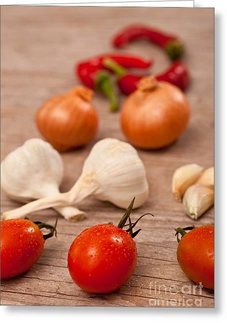 Raw Fresh Spices Greeting Card