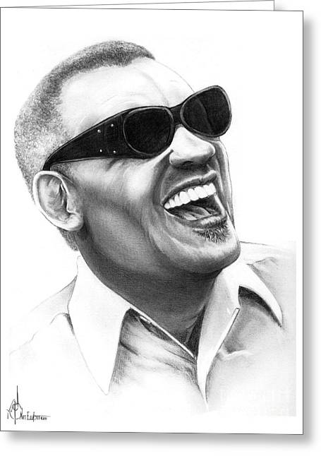 Ray Charles Greeting Card by Murphy Elliott