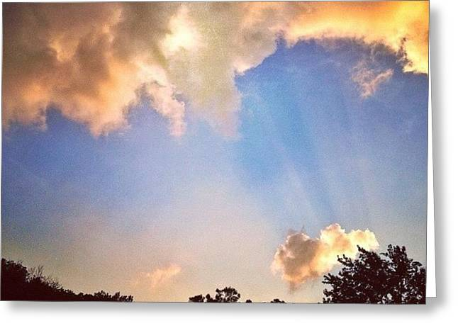 Rays Of Light Like Wings Of Angels Greeting Card