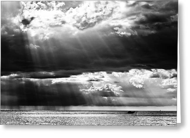 Rays Of Light Greeting Card by Mike Rivera
