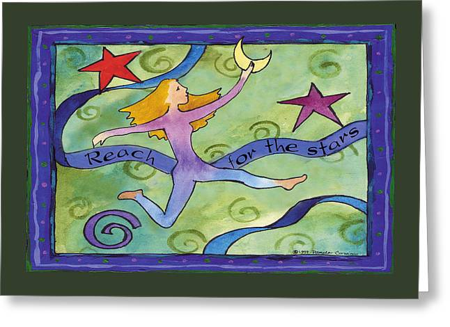 Reach For The Stars Greeting Card by Pamela  Corwin