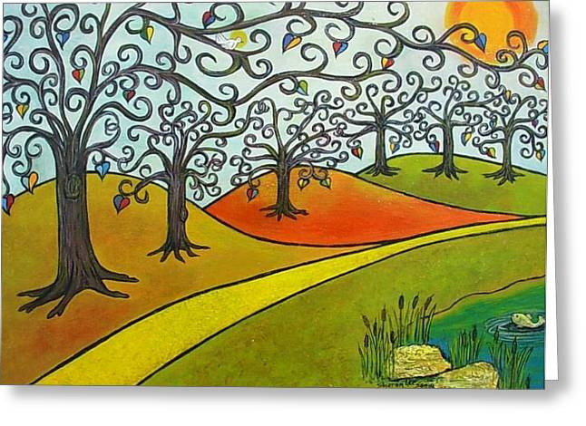 Reaching Out Greeting Card by Sharon Lee Samyn