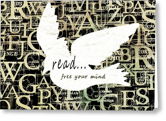 Read Free Your Mind Ivory Greeting Card