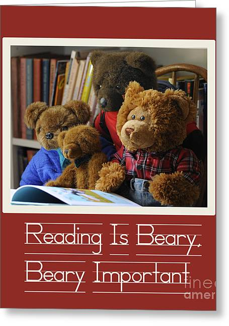 Reading Is Important Greeting Card