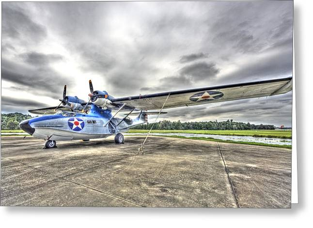 Ready And Able Pby Aircraft Greeting Card by Rich Franco