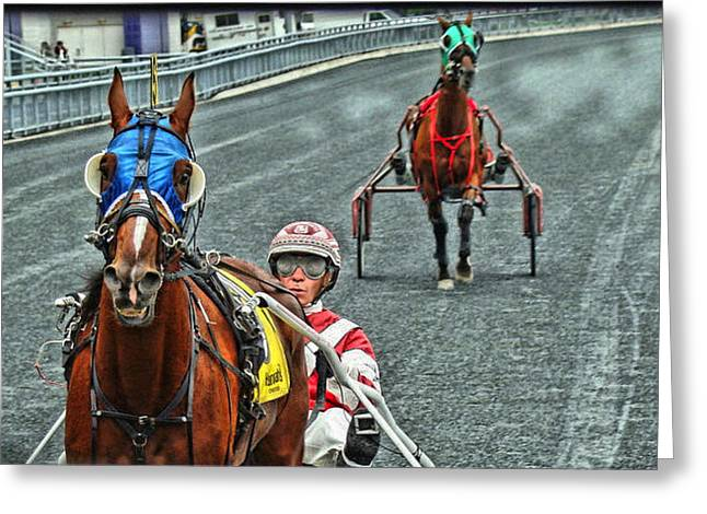 Greeting Card featuring the photograph Ready To Race by Alice Gipson