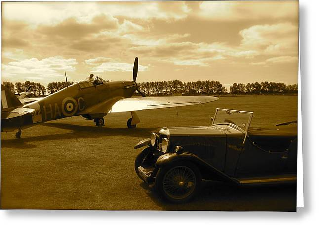 Ready To Scramble - Spitfire Greeting Card by John Colley