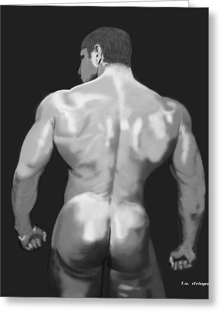 Rear Standing Greeting Card by Tim Stringer