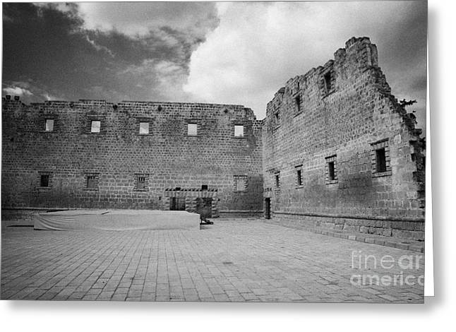Rear Walls Of The Old Palazzo Del Provedittore Royal Palace Entrance In The Old Town Of Famagusta Greeting Card