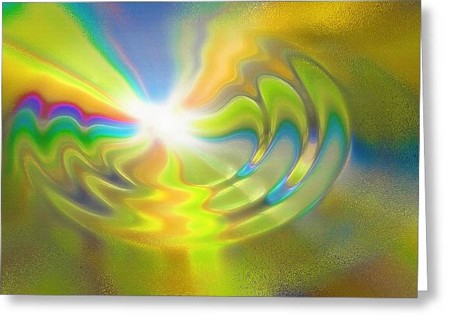 Rebirth - Conceptual Abstract Greeting Card by Steve Ohlsen
