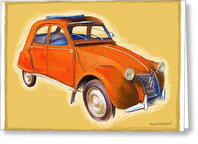 Red 2cv Greeting Card