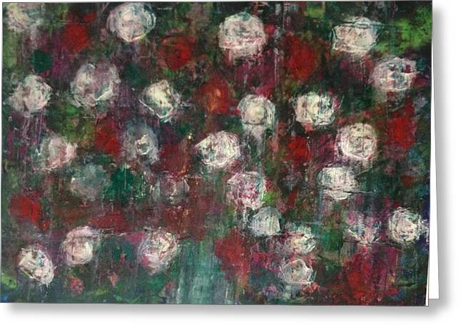 Red And White Roses Greeting Card by Kelli Perk
