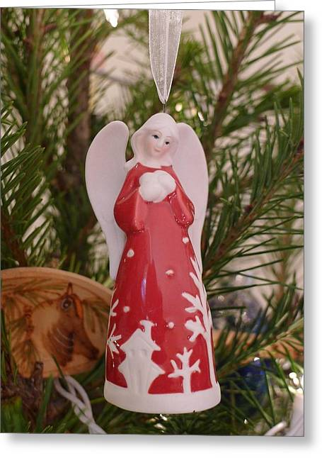 Greeting Card featuring the photograph Red Angel by Richard Reeve