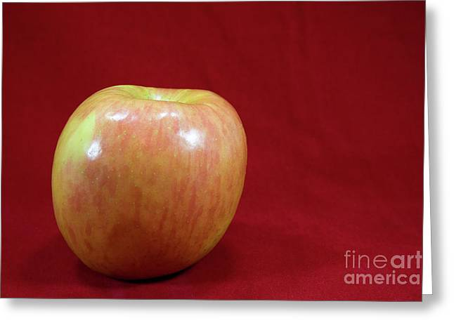 Greeting Card featuring the photograph Red Apple by Michael Waters