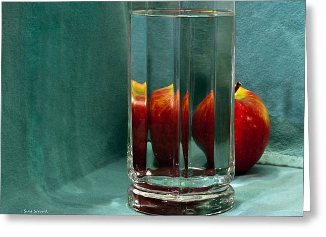 Greeting Card featuring the photograph Red Apple by Susi Stroud