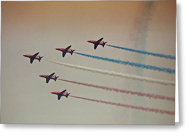 Red Arrows Greeting Card by Graham Parry