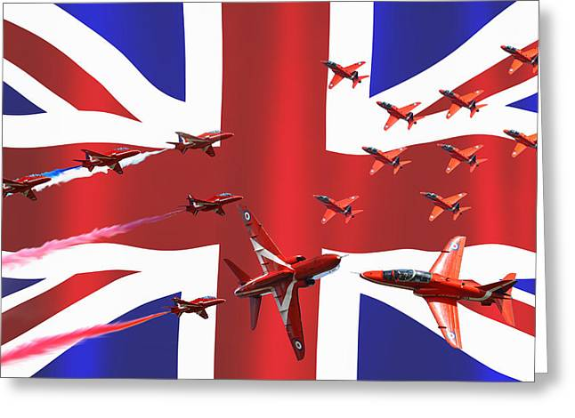 Red Arrows Union Jack Greeting Card