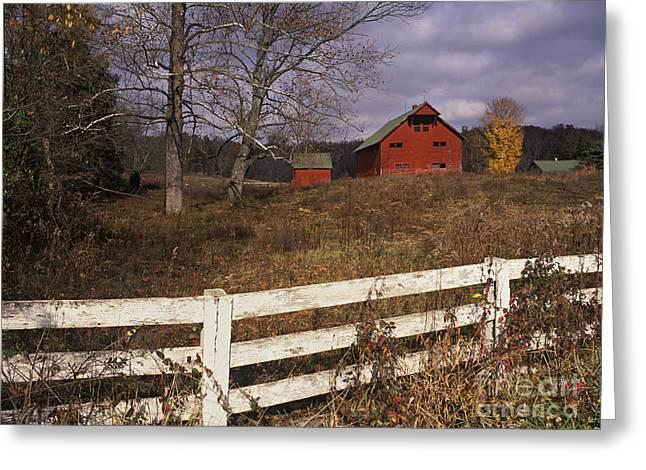 Red Barn - Fm000066 Greeting Card