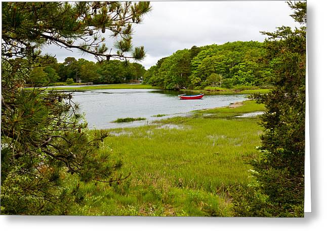 Red Boat Chatham Cape Cod Greeting Card