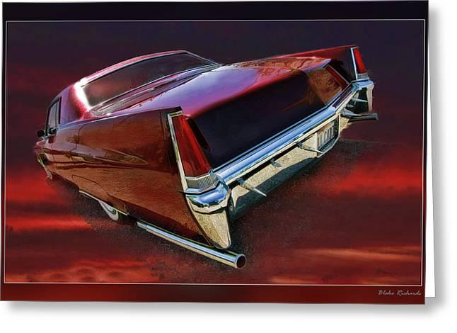Red Cadillac Greeting Card by Blake Richards