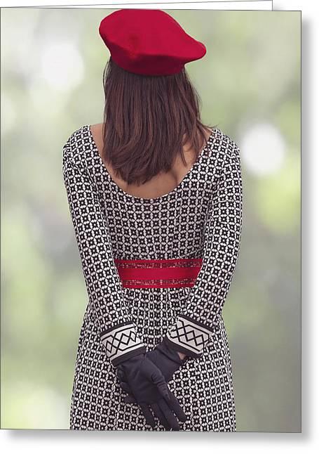 Red Cap Greeting Card by Joana Kruse