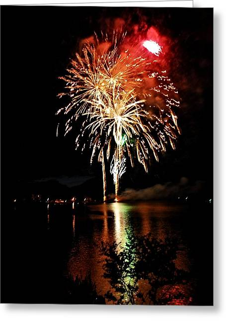 Red Capped Fireball Greeting Card by Don Mann