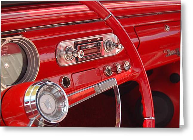 Red Chevy II Greeting Card