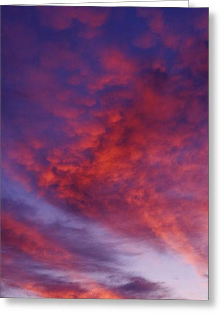 Red Clouds Greeting Card by Garry Gay