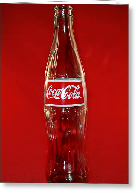 Red Coke Greeting Card by Skip Willits