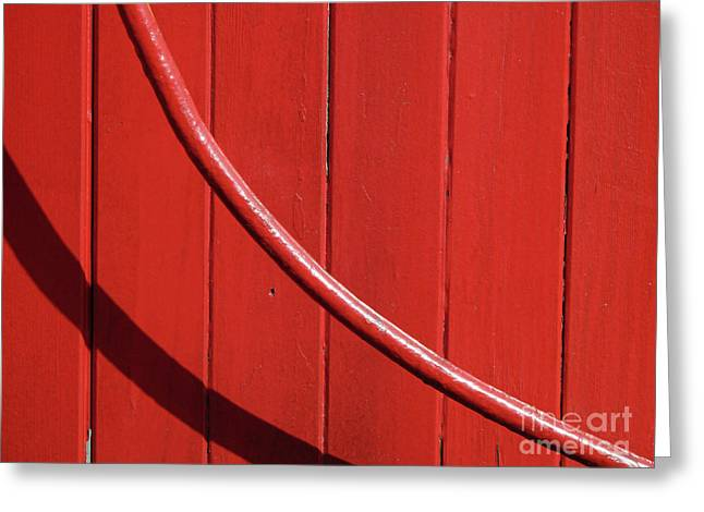 Greeting Card featuring the photograph Red Curve by Newel Hunter