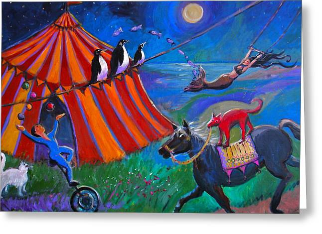Red Dog Circus Greeting Card