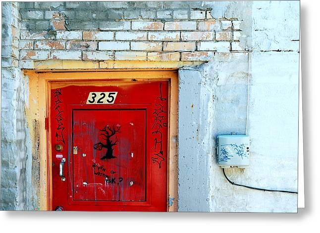 Red Door 325  Greeting Card