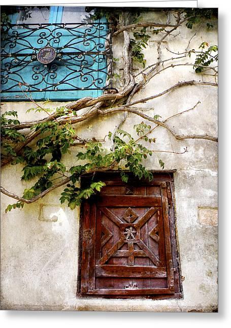 Red Door Blue Door Greeting Card