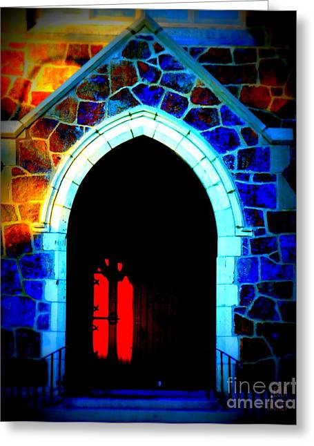 Red Door Church Greeting Card
