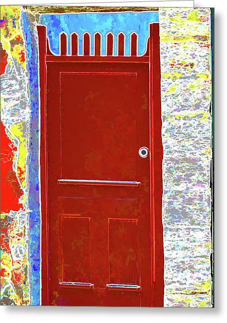 Red Door Greeting Card by Dulce Levitz