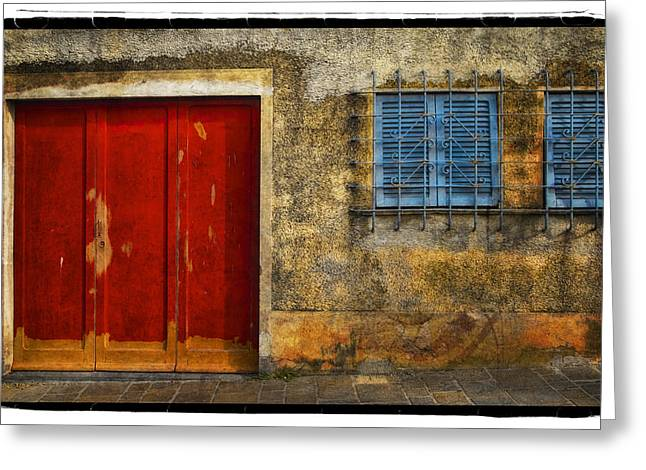 Red Doors Greeting Card by Mauro Celotti