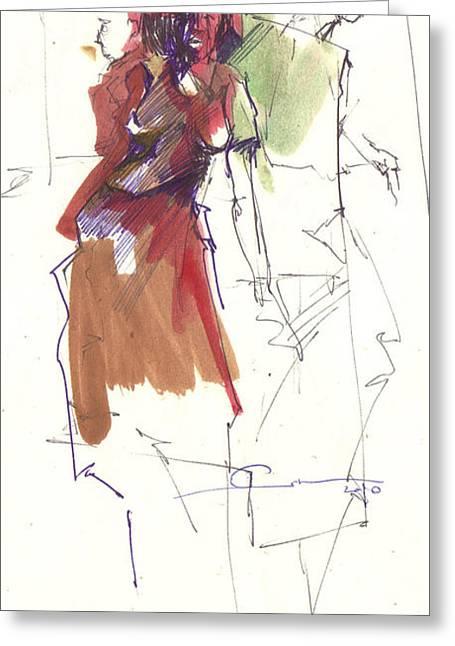 RED Greeting Card by Ertan Aktas
