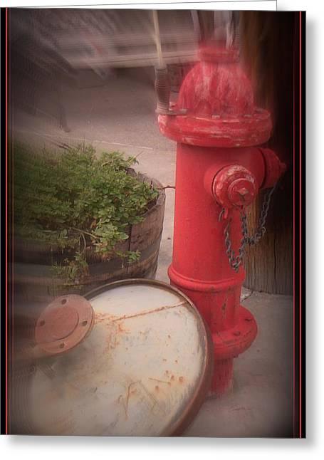 Red Faithful Hangin' At The Corner Greeting Card
