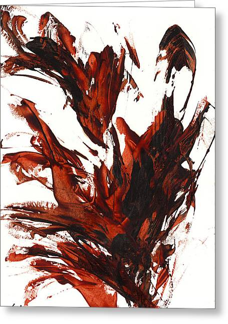 Red Flame IIi 64.121410 Greeting Card by Kris Haas