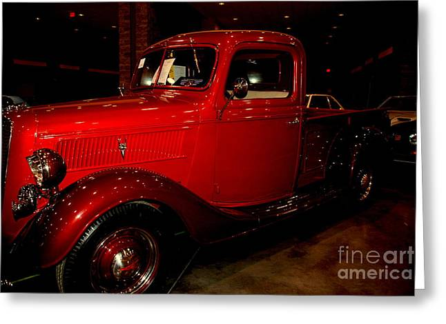 Red Ford Truck Greeting Card by Susanne Van Hulst