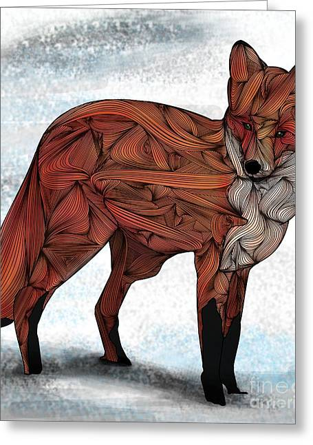Red Fox Greeting Card by Ben Geiger