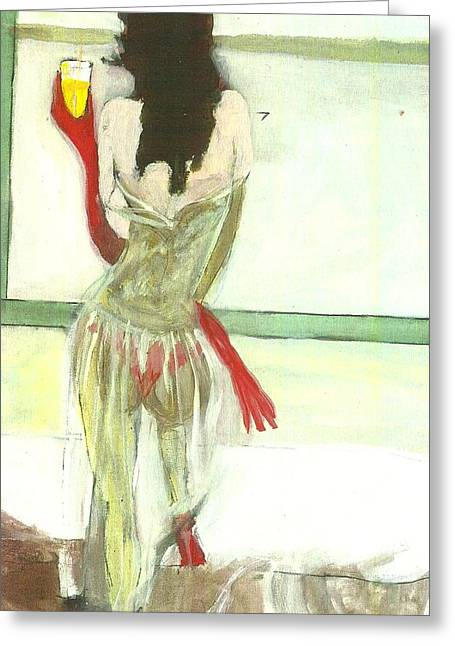 Red Gloves Red Shoes Red Throng 3d Greeting Card by Harry WEISBURD