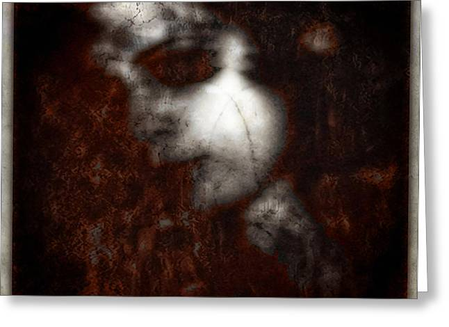 Red Hair On Marble Skin Greeting Card by Diane Falk