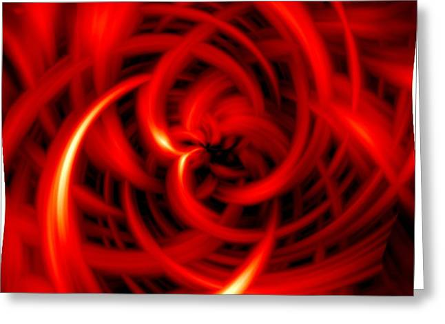 Greeting Card featuring the digital art Red Hot by Davandra Cribbie