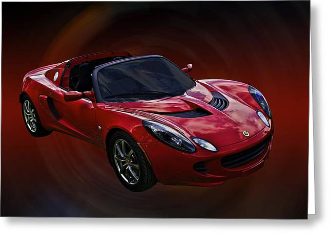 Red Hot Elise Greeting Card by Mike  Capone