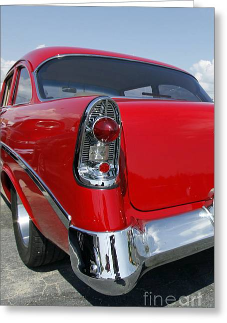 Greeting Card featuring the photograph Red Hot Rod by Denise Pohl