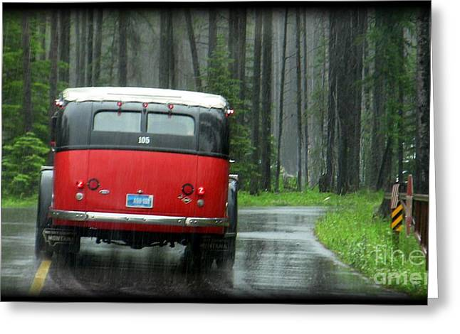 Red In The Rain Greeting Card